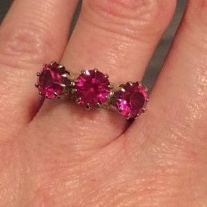 Tarina Tarantino hot pink Swarovski crystal ring